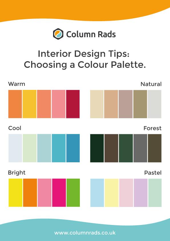 Interior design tips colour palette