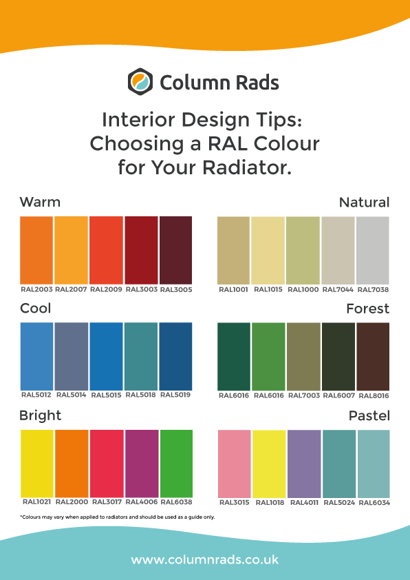 RAL radiator colour codes guide