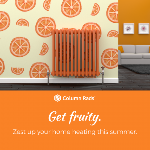 orange column radiator summer lifestyle