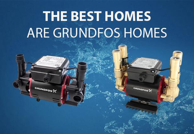 Grundfos Shower Pump range - Best Homes are Grundfos Homes - promo image